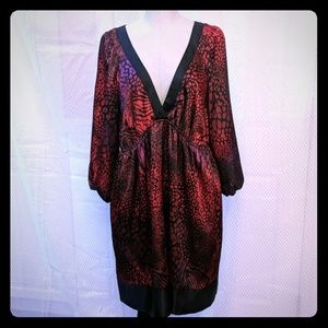 Lane Bryant 3/4 sleeve silky red satin dress 18 20